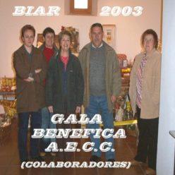 Biar Gala Benéfica contra el Cáncer, fotografías 2003