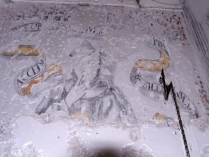 Orito y Monforte, fotografías e imágenes de sus pinturas y su iglesia.